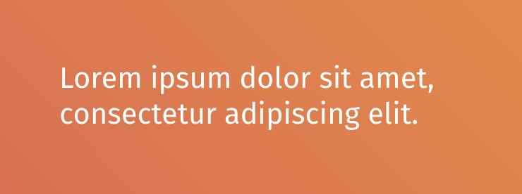 Fira Sans text on gradient background.